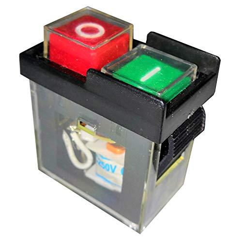 Wasserdicht Elektromagnetische Tischbohrmaschine Drucktastenschalter AC250V KJD6 5E4, Schwarz