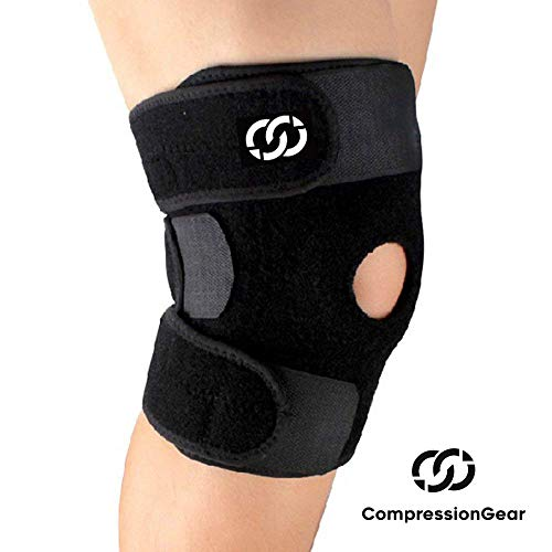 CompressionGear Patella Stabilizing Knee Brace with Side Stabilizers for...