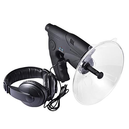 Yunt-11 - Dispositivo de escucha para espionaje, micrófono direccional de Parabola, monocular X8 veces para audición de larga distancia, telescopio para escuchar pájaros (auriculares incluidos)
