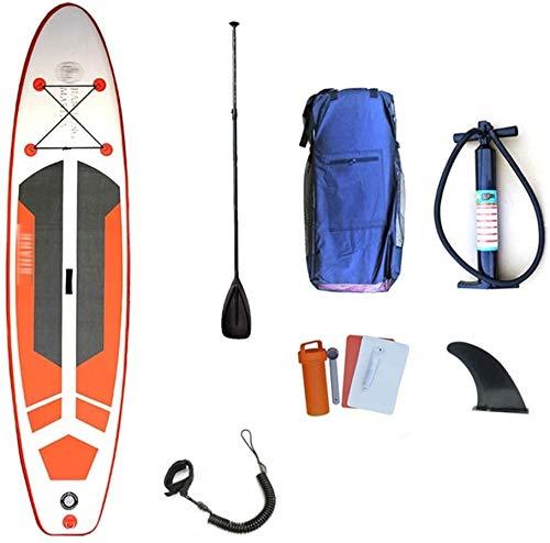 FANLIU Inflables Stand Up Paddle Board, Junta Sup portátil Tabla de Surf for los jóvenes y Adultos Que se colocan Barco Kayak Paddle Board (Color : A, Size : 330X80CM)