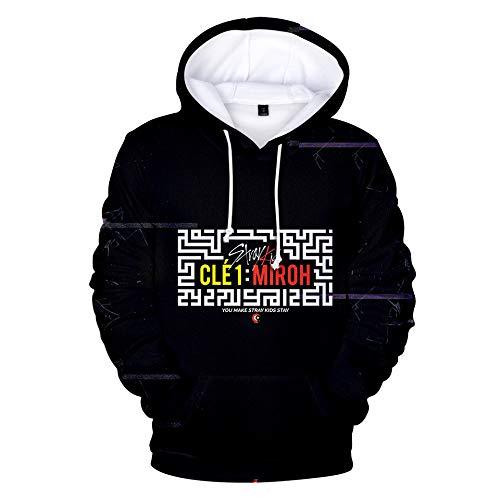 INSTO Sweatshirt Khip-Hop Streunend Kinder Gedruckt Sweatshirt Beiläufig Lose Kapuzenpullover Unisex Einfach Freizeit/Schwarz/XS