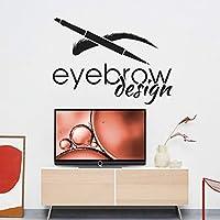 Ronronner 美容サロン壁画装飾77X57Cmの眉毛まつげ眉壁ステッカーアート