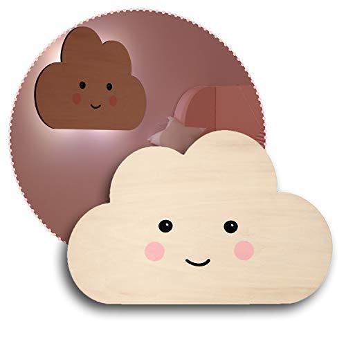 Reer lumilu Silhouette Light Cloud, süßes Wolken-Wandlicht, tolles Taufgeschenk, Geburtstags-Geschenk für Jungen und Mädchen, braun, 52167