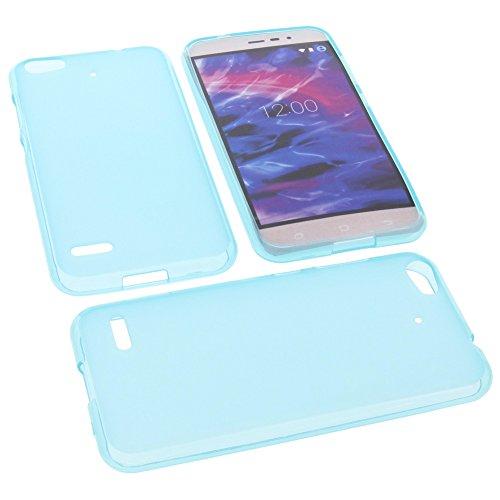 foto-kontor Tasche für MEDION Life E5006 Gummi TPU Schutz Handytasche blau