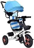 LYXY Cochecito de bebé de 1-3-6 años de Edad de niños con Canasta de Almacenamiento Grande y Sistema de Doble Freno for niña,bebé bebé (Color : Azul)