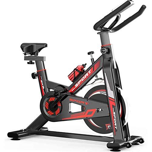 AJH Bicicleta de Spinning Ajustable Home Cardio Workout Bike Training Bicicleta de Ciclismo de Interior Bicicleta de Correa Bicicleta estacionaria para Gimnasio de Oficina en casa