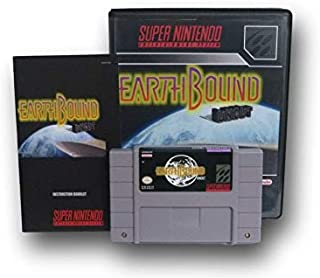 SNES Earthbound Uncut Video Game with Custom Box and Manual for the Super Nintendo