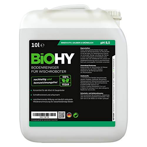 BiOHY Bodenreiniger für Wischroboter (10l Kanister) | Konzentrat für alle Wisch & Saugroboter mit Nass-Funktion | nachhaltig & ökologisch