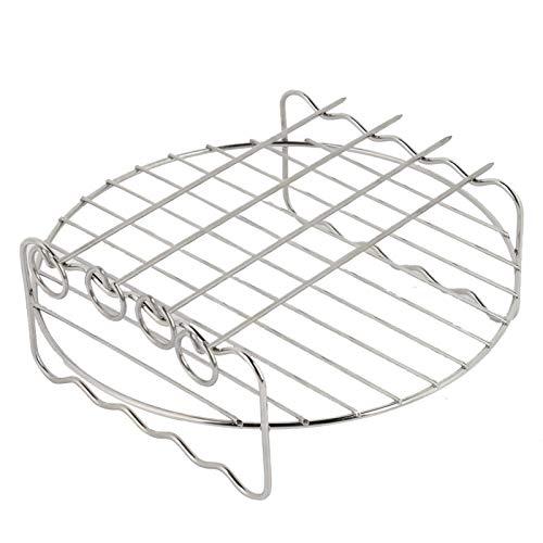 Emoshayoga Parrilla para Barbacoa de Acero Inoxidable fácil de Limpiar Conveniente para Usar Parrilla para Barbacoa Segura y Duradera Pinchos de Cocina para freidora doméstica