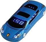Snexian Rock Car Design Keypad Flip Phone with Dual Sim - Blue