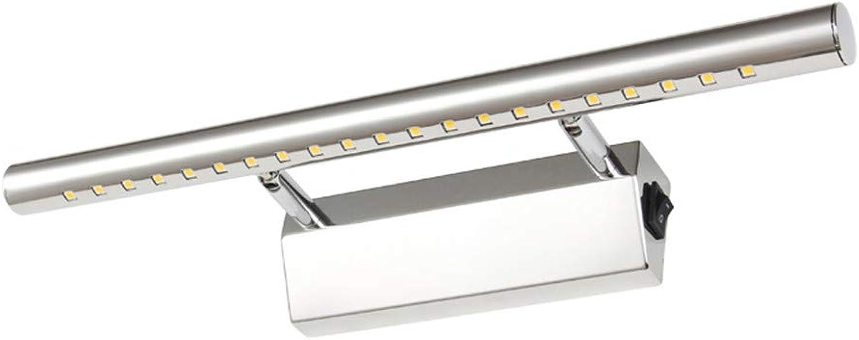 LED Wandleuchte Badezimmer Spiegelwand Lampenfassungen Aluminium boby & Edelstahl 40cm