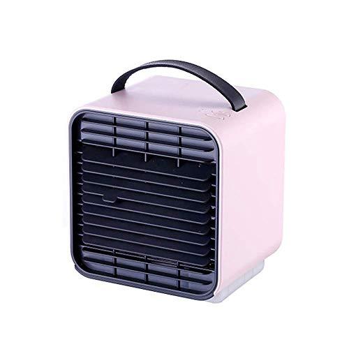 3 In 1 Mini Luftkühler Air Cooler Air Personal Space Cooler, Tragbare KÜhler Ventilator Leiser Luftkühler Luftreiniger 3 Leistungsstufen Haushalt Camping Büro-rosa