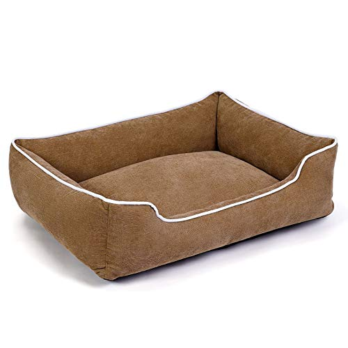SCYMYBH Pet Bed Kennel,Washable Mattress For Large, Medium And Small Dogs (Color : Brown, Size : 67×50cm)