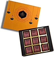 Queen & Bee Assorted Chocolate Gift Box – 9Pc ( Caramel, Hazelnut, Orange Almond) (Diwali Gift Pack)