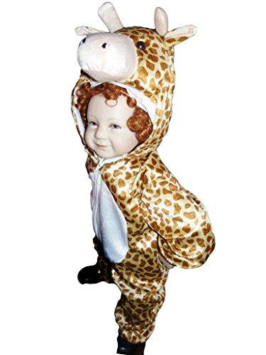 Giraffen-Kostüm, J24/00 Gr. 92-98, für Babies und Klein-Kinder, Giraffen-Kostüme Giraffe Kinder-Kostüme Fasching Karneval, Kinder-Karnevalskostüme, Kinder-Faschingskostüme, Geburtstags-Geschenk