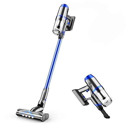 ONSON Cordless Vacuum, Stick Vacuum Cleaner with 20Kpa Super Suction, 80000 RPM High-Speed Brushless Motor, 4 in 1 Pro Lightweight Handheld Vacuum Cleaner for Hardwood Floor Carpet Pet Hair
