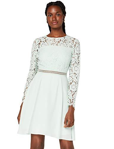 Amazon-Marke: TRUTH & FABLE Damen kleider Jcm-42469, Grün (Celadon Green), 44, Label:XXL