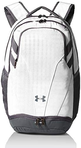 Under Armour Adult Team Hustle 3.0 Backpack , White (100)/Gray , One Size Fits All