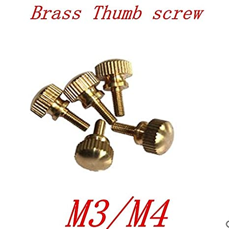 Screws 10pcs m3 M4 Brass knurled Step Thumb Screw - (Size: m3, Length: 10mm)