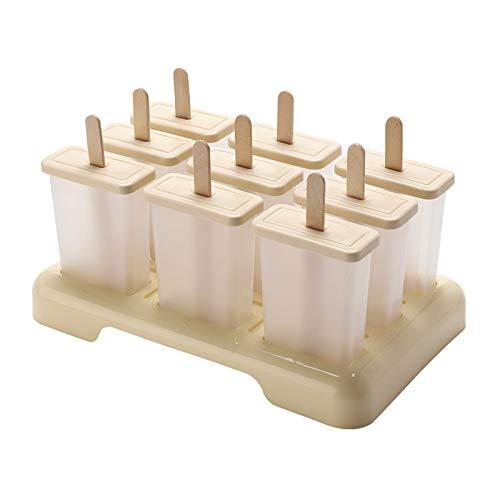 HeziCat 9 Sätze Eismaschine Eiseis Mehrzelliges Design Stick Ice 9 Eisformen Popsicle Formen Set, EIS am Stiel Bereiter, LFGB Geprüft und BPA Frei