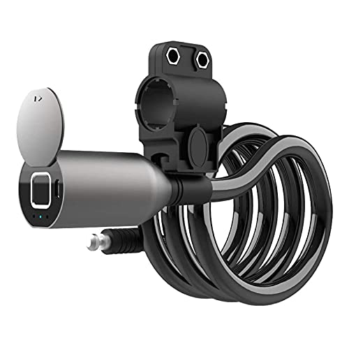 CHENMAO Fingerprint Bicycle Lock, Can Be Quickly Unlocked Within 1 Second, Long Battery Life, Using Stainless Steel Cable, Durable,20 Fingerprints