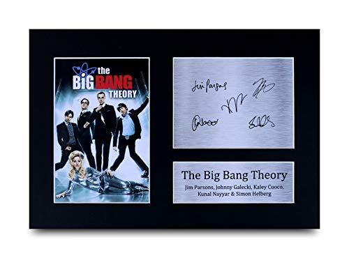 HWC Trading The Big Bang Theory A4 Sin Marco Regalo De Visualización De Fotos De Impresión De Imagen Impresa Autógrafo Firmado por Ventiladores De Programa De TV