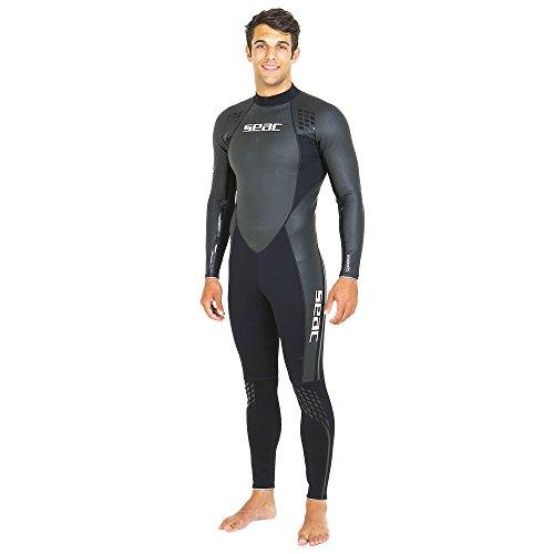 SEAC Emotion, Muta Ultraflex 1.5 mm per Tutte Le attività Acquatiche, Snorkeling, Nuoto, Apnea e Diving Uomo, Nero/Grigio, M