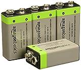 AmazonBasics - Batterie ricaricabili, 9V, da 200 mAh/Ni-Mh, Confezione da 4