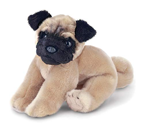 Bearington Pugsly Pug Plush Stuffed Animal Puppy Dog, 13 inch