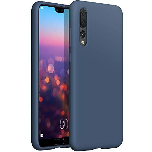 YATWIN Compatibile con Cover Huawei P20 PRO 6,1'', Custodia per Huawei P20 PRO Silicone Liquido, Protezione Completa del Corpo con Fodera in Microfibra, Blu Notte