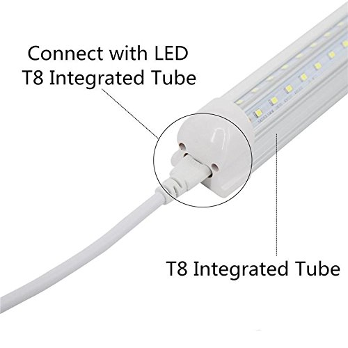 T5 T8 LED Double End 3Pin Lamp Connecting Wire Ceiling Lights Daylight LED Integrated Tube Cable Linkable Cords for LED Tube Lamp Holder Socket Fittings with Cables White Color,( 4.9FT / 1.5M ).4-PACK