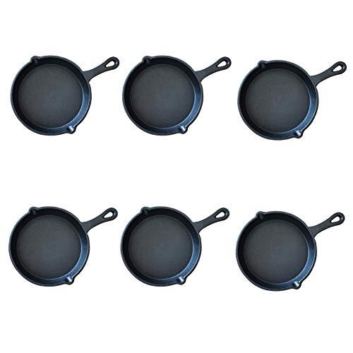 HAWOK Cast Iron Miniture Skillet, mini server, Balck Round Mini pan...