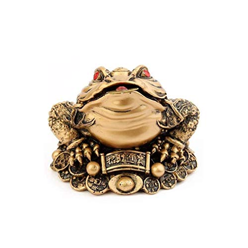 lachineuse Crapaud Feng Shui Dore Grande Taille