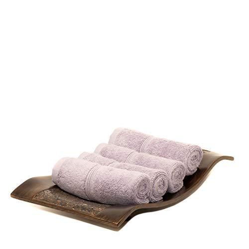 MOSOBAM Lot de 4 Serviettes de Toilette de Luxe en Bambou 700 g/m²