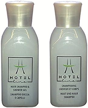 HOTEL AMENITIES PRODUCTOS DE ACOGIDA — 100 pzs. – CHAMPÚ Y GEL DE DUCHA 30ml SHAMPOO & SHOWER GEL - HOTEL TOILETRIES 100 pcs