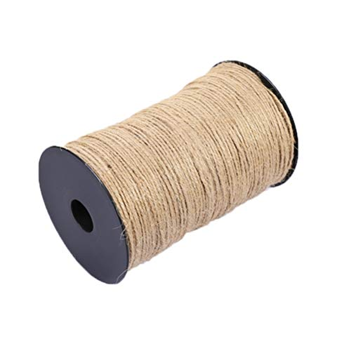 Bonbela Verpackung Dekoration Hanfseil Natürliches Juteseil DIY Gewebtes Hanfseil Craft Cord Nähhandwerk für Gartenpflanzen Geschenke DIY Dekoration