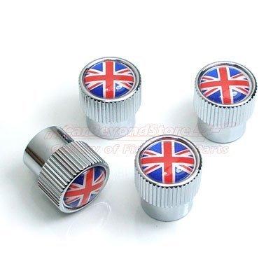 Camisasca Tapones para Tallos de neumáticos de Bandera británica de Union Jack