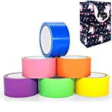 Heavy Duty Duct Tape Multipack, 6 Rolls 10yd x 2in Waterproof Tapes, Colorful Duct Tape Great for Kids DIY Crafts Art at Home School with Gift Package
