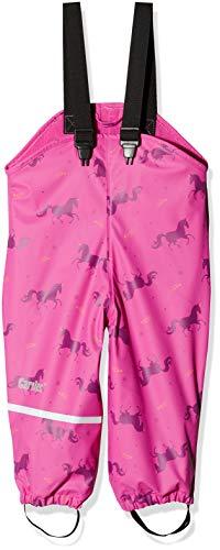 CareTec Pantaloni impermeabili con vello Unisex bambino/bambina Rosa (Real pink 546) 92 cm