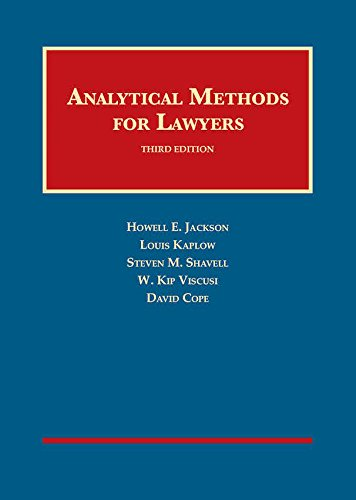 Download Analytical Methods for Lawyers (University Casebook) 1683282361