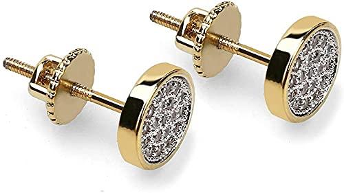 Linlin Mode Runde Ohrstecker voller Zirkon Verhindern Sie Allergie-Ohrringe Männer und Frauen-Ohrdekoration High-End-Geschenk 0 55 * 0 27 Zoll (Gold)