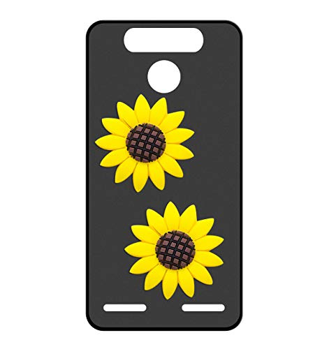 Sunrive Für ZTE Blade V8 Mini Hülle Silikon, Handyhülle matt Schutzhülle Etui 3D Hülle Backcover für ZTE Blade V8 Mini(W2 Gelbe Sonnenblume) MEHRWEG+Gratis Universal Eingabestift