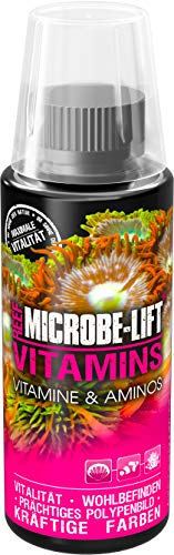 MICROBE-LIFT Vitamins - Multivitamin-Zusatz inkl. Aminosäuren, für das optimale Wohlbefinden der Fische & Korallen in jedem Meerwasseraquarium, 118 ml