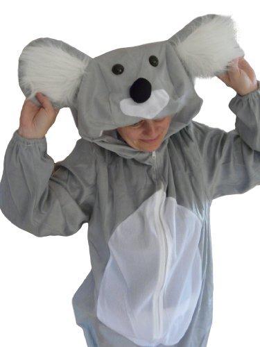 Ikumaal Koala-Bär Kostüm, J42, Gr. M-L, Fasnachts-Kostüme Tier-Kostüme, Koala-Kostüme Koala-Bären für Fasching Karneval Fasnacht, Geschenk für Erwachsene