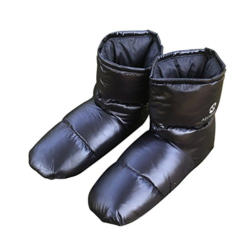 AEGISMAX Daunenschuhe Herren Daunen Hausschuhe Socke Thermische Isolierte Winterstiefel Schuhe
