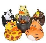 "Rhode Island Novelty 2"" Zoo Animal Rubber Duckies"