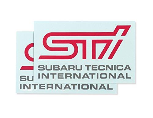 SUBARU/スバル STI【ステッカーB(チェリーレッド)】2枚入り STSG14100290