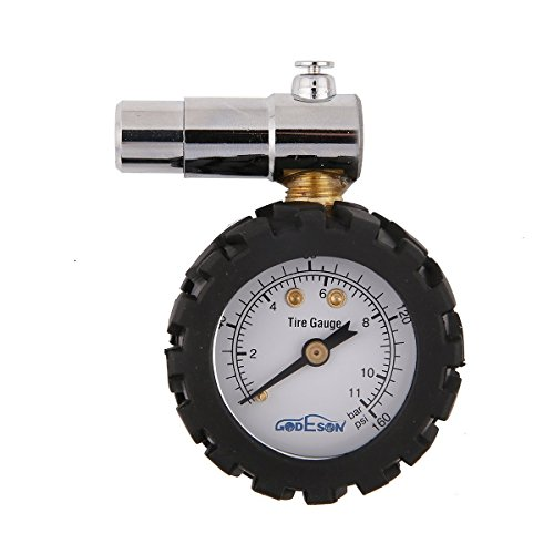 Godeson Smart Bike Tire Pressure Gauge 0-160psi,Dual Scale with 0-11bar, Professional for Presta Valves of Bicycle Tire by Godeson