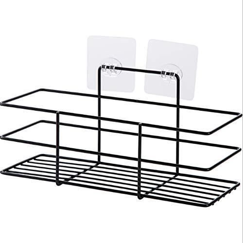 XINYE Wuxinye - Cesta organizadora de ventosa para el hogar, baño, cocina, ducha, pared, color negro
