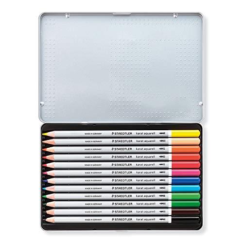 Staedtler Karat Aquarell Premium Watercolor Pencils, Set of 12 Colors (125M12) Photo #6